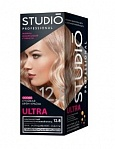 STUDIO ULTRA 12.8 Studio ULTRA ultra gaišs sudraba-rozā blonds, 50/50/15 ml